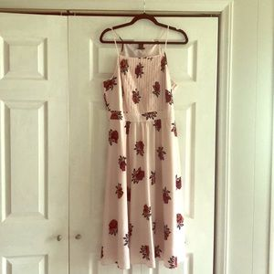Ann Taylor Factory Floral Midi Dress